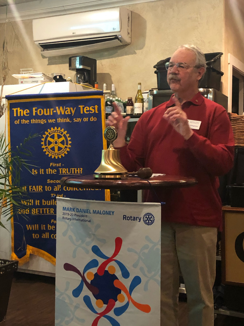 2/19/20: Mike Simpson, BGRC Rotarian presenting The Rotary Foundation