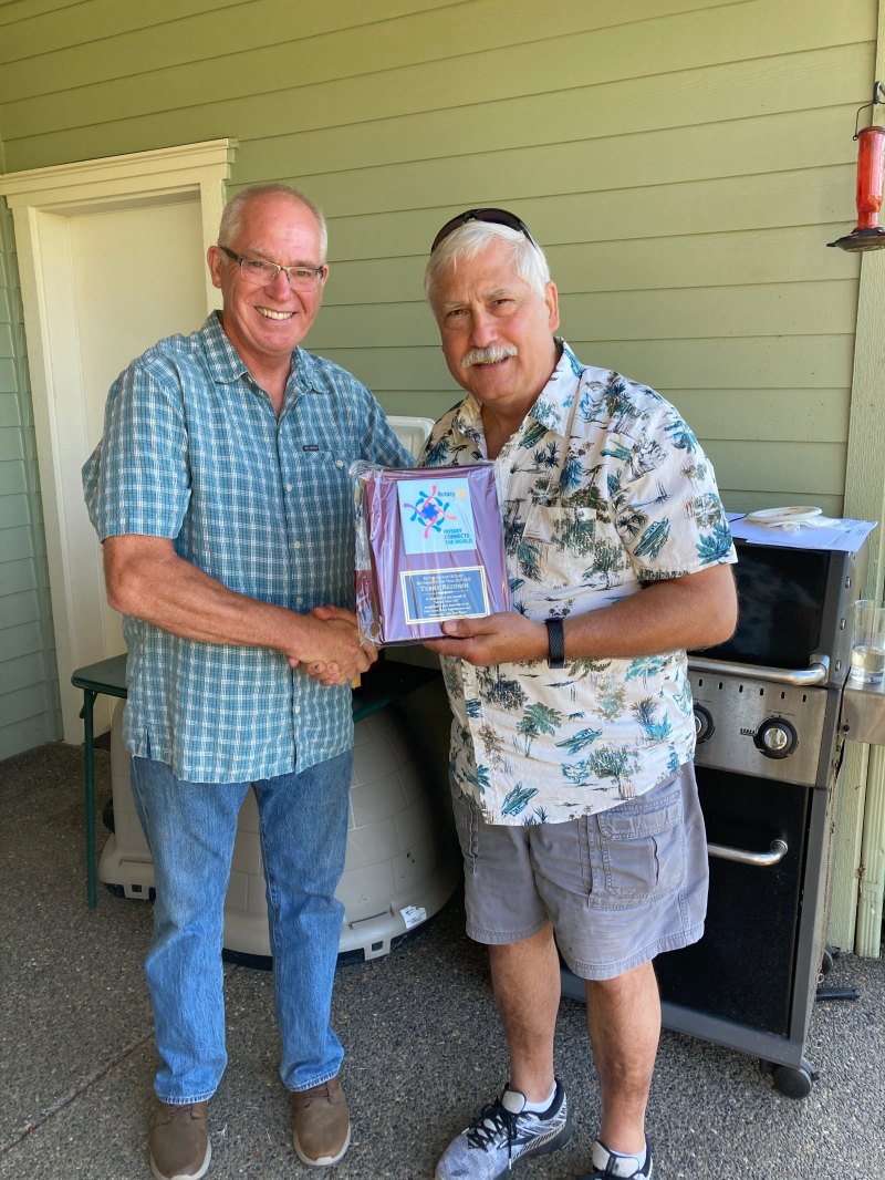 Terry Reddish receives Rotarian of the Year for 2019-20