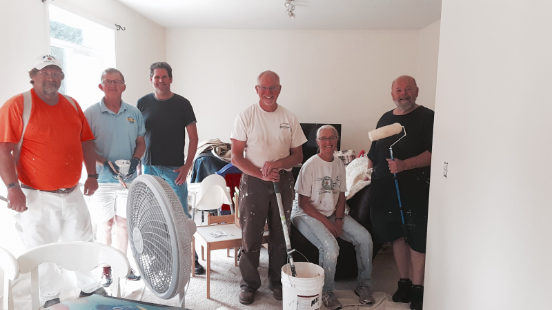 Repainting the inside of A Mom's Place with the help of Miller Paint - THANK YOU TO MILLER PAINT!