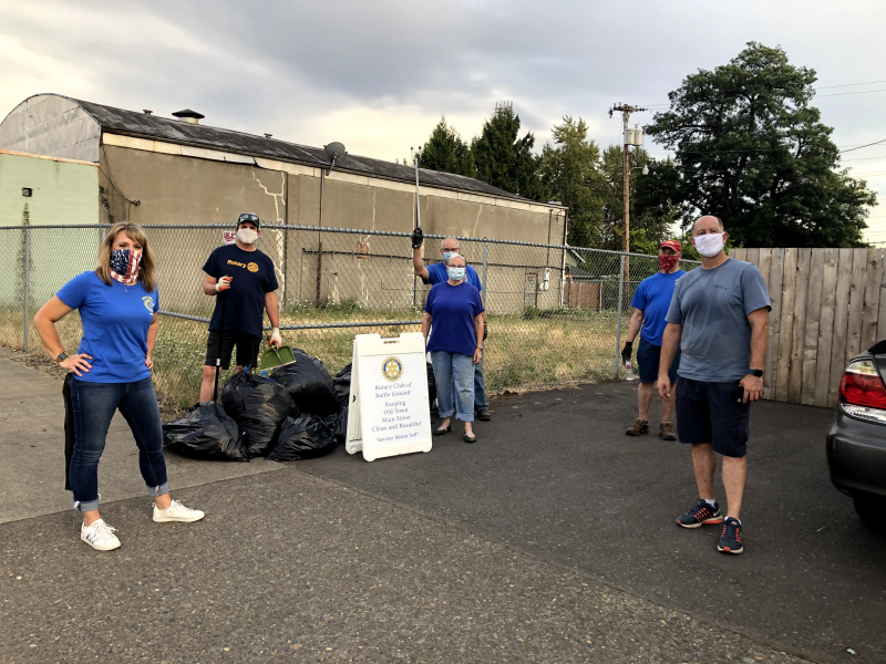 Main Street Cleanup 8-19-20