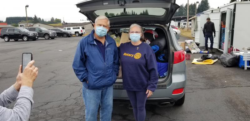 Santiam Wildfire Relief Delivery 9-19-20 - Terry Reddish & Kayla Tiano